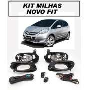 Kit Farol Milha/ Neblina New Fit 2012 / 2013/2014 Com Aro Preto - SONNIC SOUND