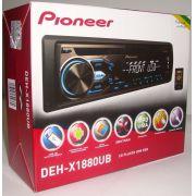 CD Player Automotivo Pioneer DEH-X1880UB - entrada USB e Auxiliar P2 frontal, Dupla Iluminação, RDS, Conexão com dispositivo Android - SONNIC SOUND