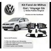 Kit Farol De Milha Gol/Voyage G6 2012/2013 - Com Botão  Original - SONNIC SOUND