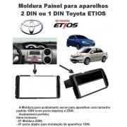 Moldura de Painel 1 Din/2 din Toyota Etios - SONNIC SOUND