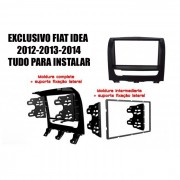 Moldura De Painel Fiat idea 2012 2013 2014 DVD 2 Din Preta AP694 - SONNIC SOUND