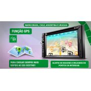 Central Multimidia Fiat Strada/Weekend 2013/2014/2015 com GPS, Tv Digital, Bluetooth, leitor de DVD e CD, Mp3 - SONNIC SOUND
