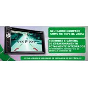 Central Multimídia  Vw Gol Parati Saveiro G4 Com TV Digital DVD GPS Mapa Bluetooth MP3 USB Ipod SD Card Câmera Ré Grátis - SONNIC SOUND