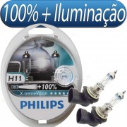 Kit de Lampada X-Treme Vision Philips H11 - 55W - 12V - SONNIC SOUND