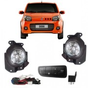 Kit Farol Milha/Neblina Novo Uno Vivace Way Attractive 2010/2011/2012/2013/2014 - SONNIC SOUND
