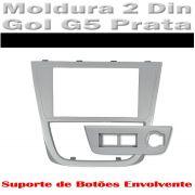 Moldura Painel Prata Gol G5/ Voyage G5 Para Dvd 2 Din+brinde AP793 - SONNIC SOUND
