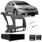 Moldura Painel New Civic 1 Din 2007/2011 Com Porta Trecos AP814 - SONNIC SOUND