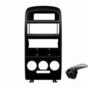Moldura Painel Central Radio Astra 1 Din Com AR Condicionado Analógico AP768 - SONNIC SOUND