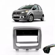 Moldura Painel 1din Fiat Idea 2013/2014/2015 Prata AP866 - SONNIC SOUND