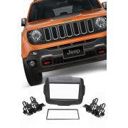 Moldura Painel DVD 2 Din Multimidia Jeep Renegade AP874 - SONNIC SOUND
