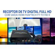 Receptor De Tv Digital Full Hd Com Saída Hdmi Faaftech Ft-Tv-HDII - SONNIC SOUND