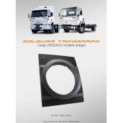 Moldura Tacógrafo Ford Cargo 2002 A 2013 Preta e cinza AP790 - SONNIC SOUND