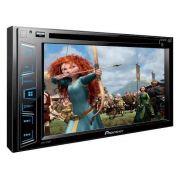 Dvd Player 2 Din Pioneer Avh-298Bt Bluetooth + 2 Encostos + Câmera Ré - SONNIC SOUND
