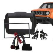 Moldura Painel Dvd 2 Din  Jeep Renegade AP874 +chicote Rádio - SONNIC SOUND