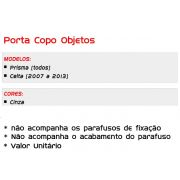 Porta Copos/Objetos/Console Celta Prisma Cor Cinza 2007 ao 2013 - SONNIC SOUND