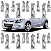 Kit Aplique Roda Calota Cromada Hyundai I30 2012 20 Peças - SONNIC SOUND