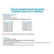 Par Amortecedor Traseiro Ranger 98/12 4x2 4x4 Original Cofap GL13709 - SONNIC SOUND