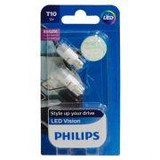 Lampada Philips Pingo Led Vision 6000k W5w T10 Super Branca - SONNIC SOUND