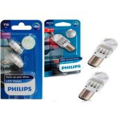 Kit Lampada Philips Pingo Led 5500k W5w T10+p21/5 Led Vision