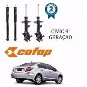 Kit 4 Amortecedor Dianteiro Traseiro New Civic 2012/2016 G9 Cofap GP33218/GP33219/GB48248 - SONNIC SOUND