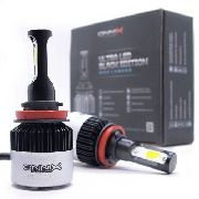 Kit Lâmpada Onnix Ultra Led Black H11 36w 6000k 9000 Lumens