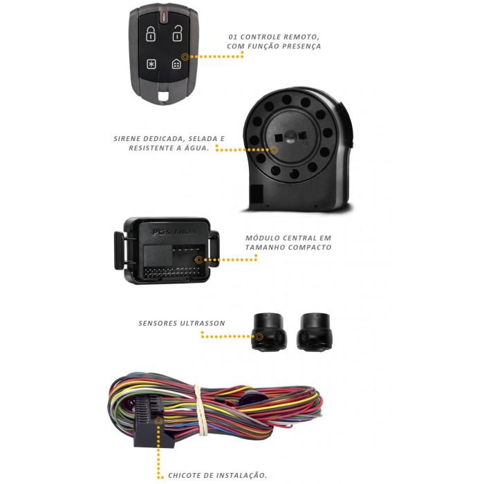 Alarme Positron Keyless KL300Controle Chave Original E Presença - SONNIC SOUND