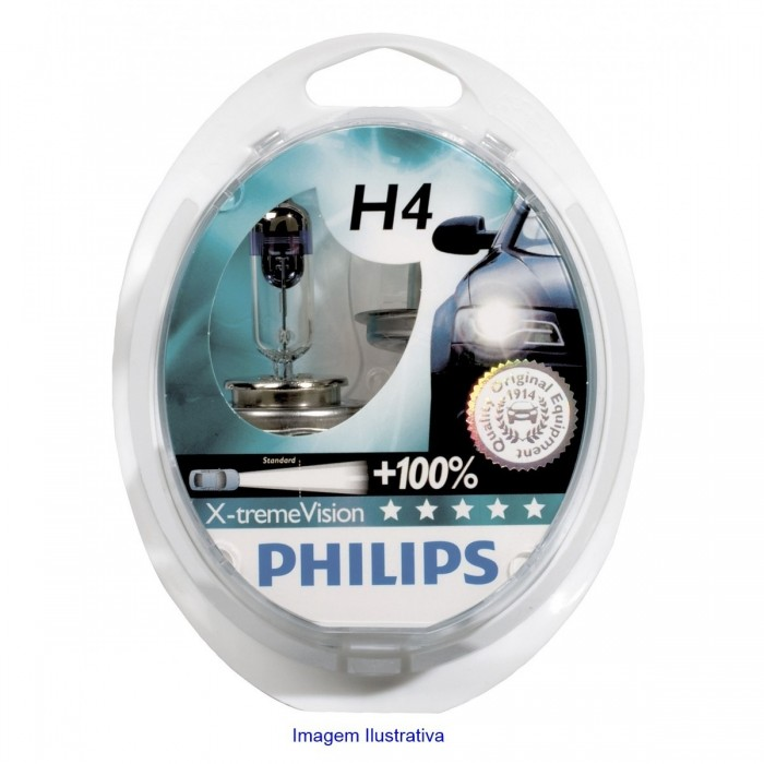 Kit Lampadas Philips XTreme Vision H4 55/60W - 12V - SONNIC SOUND
