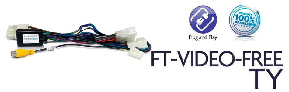Inteface Para Desbloqueio Tela Hilux/SW4/Srv 15/17 Faaftech Ft-video-free Ty - SONNIC SOUND