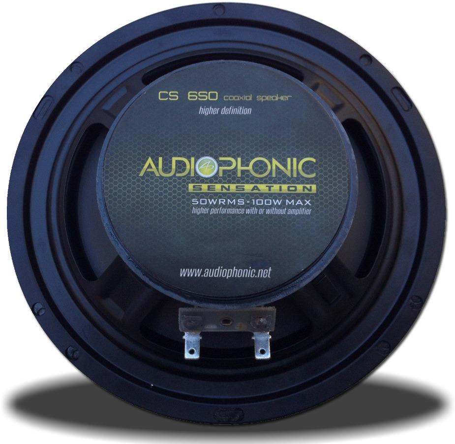 Alto Falante Coaxial Audiophonic Cs 650 6´ 100 RMS (Par) - SONNIC SOUND