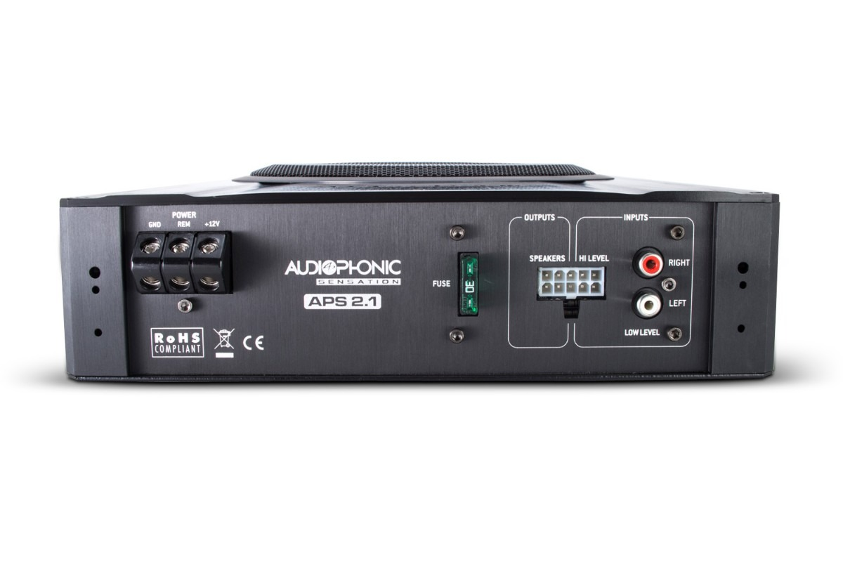 Caixa Amplificada Subwoofer 8´ 2 Canais Stereo Audiophonic Aps 2.1 - SONNIC SOUND