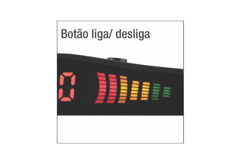 Sensor Estacionamento Ré Vermelho 4 Sensores Display Led Sinal Sonoro - SONNIC SOUND
