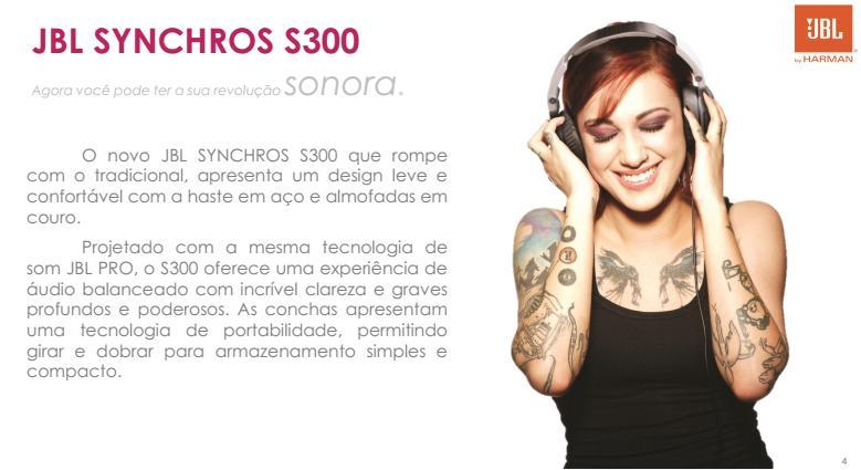 Fone de Ouvido JBL SYNCHROS S300 Para iPhone - SONNIC SOUND