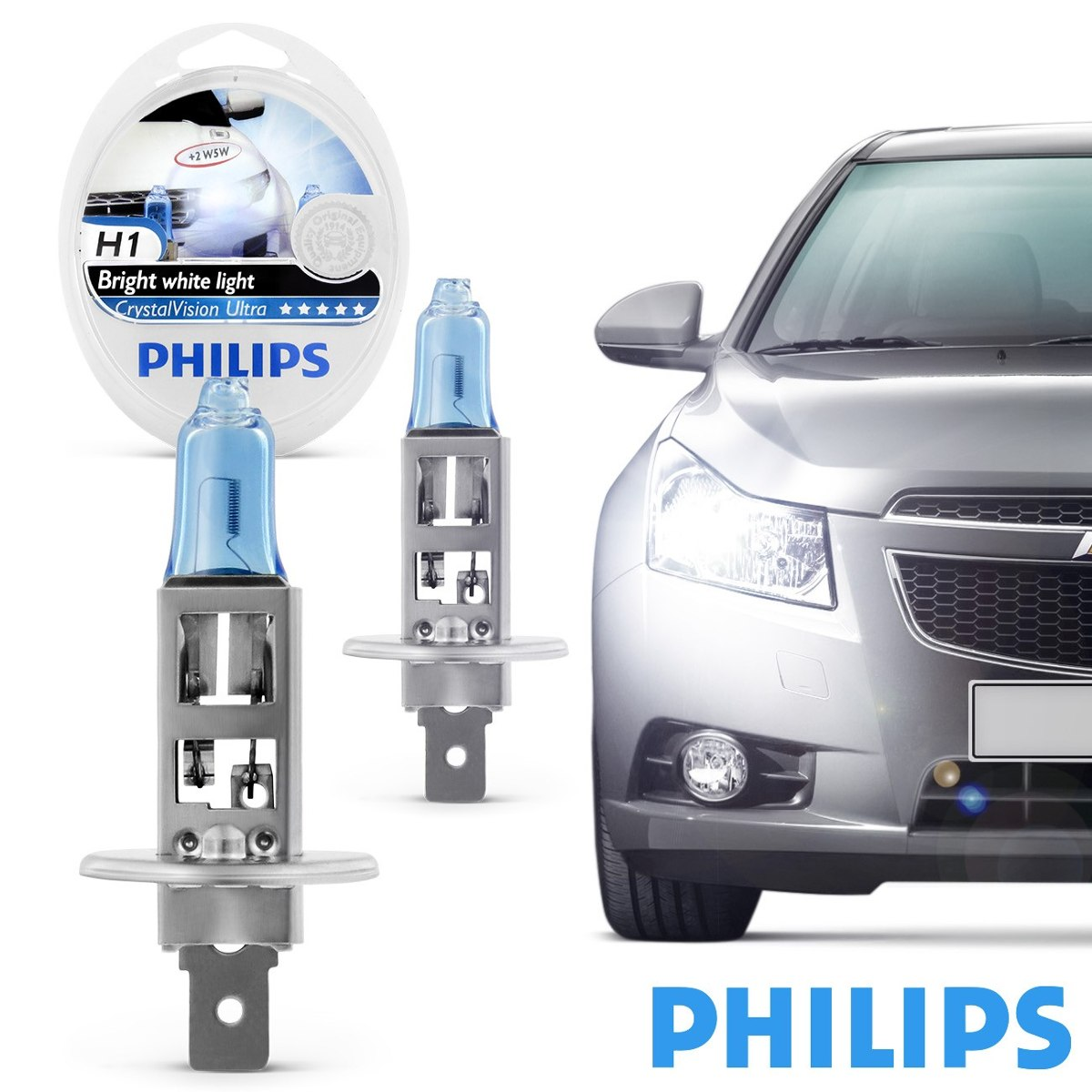 Kit Lampada Philips Crystal Vision H1 55w 12v - SONNIC SOUND