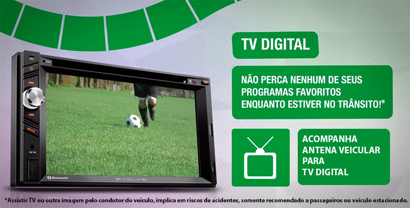 Central Multimídia EVOLVE Tv Gps Câmera Ré + Sensor +Bluetooth - SONNIC SOUND