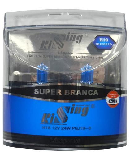 Par Lampada H16 Super Branca - SONNIC SOUND
