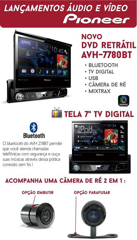 Dvd Automotivo Pioneer Avh-x7780tv  Com Tv Digital - SONNIC SOUND