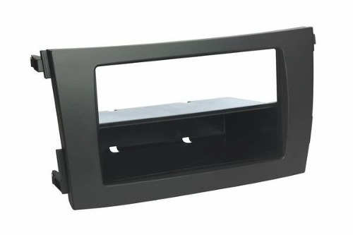Moldura Painel DVD 1 Din Corolla 2009 ao 2014 Cinza AP872 - SONNIC SOUND