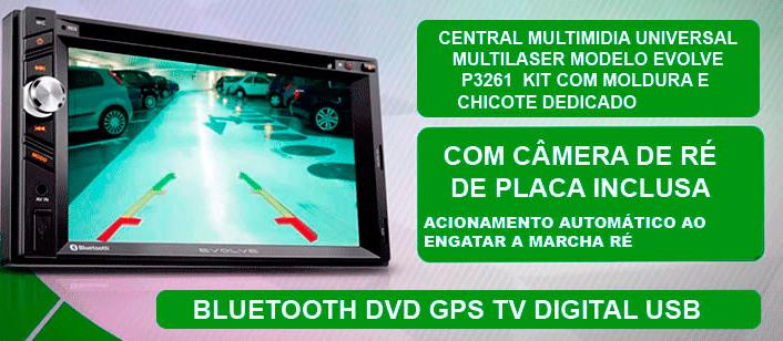 Central Multimídia Honda Civic 2001/2002/2003/2004/2005/2006 Com GPS/TV DIGITAL/CÂMERA DE RÉ - SONNIC SOUND