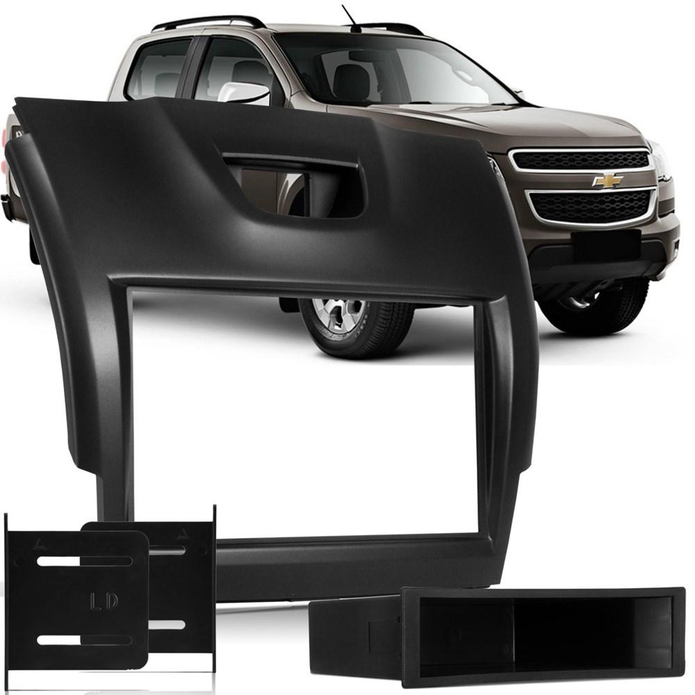 Moldura Painel Dvd 2din S10 Grand Blazer 2012/2013/2014 - Black Piano 2 Din AP876 - SONNIC SOUND