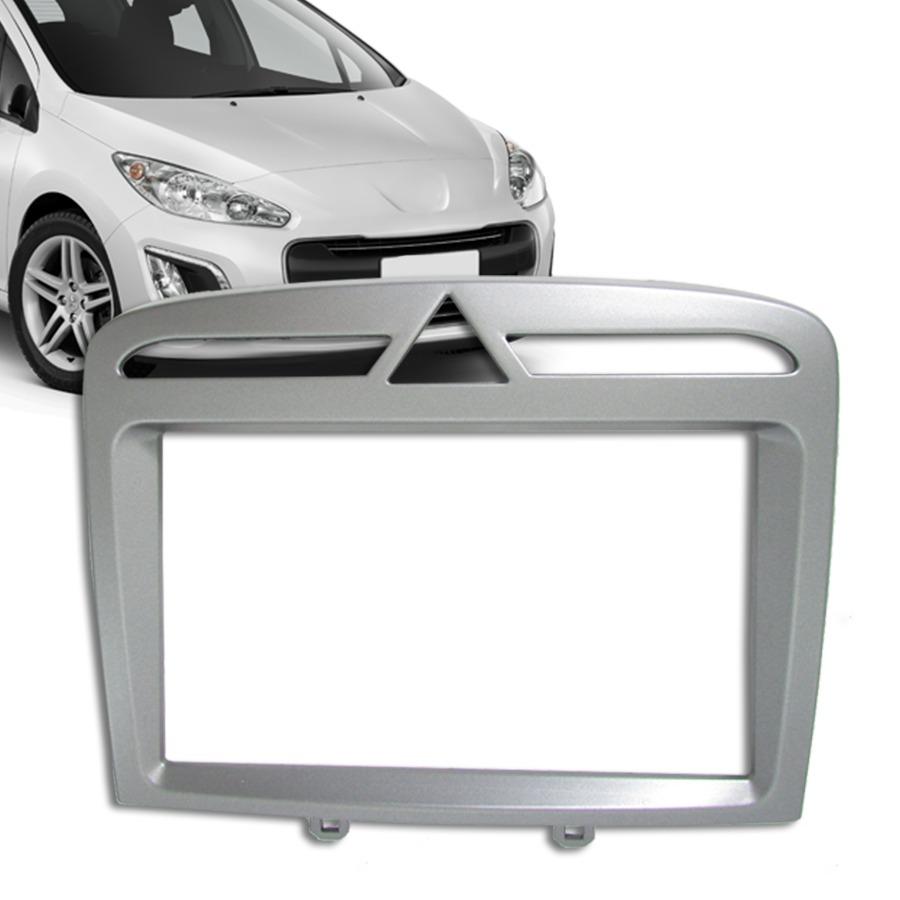 Moldura Painel Dvd 2 Din Peugeot 308 / 408 + Kit Fixação Plástico AP690 - SONNIC SOUND