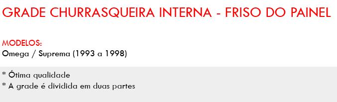 Grade Churrasqueira Interna Friso Painel Omega E Suprema AP388 - SONNIC SOUND