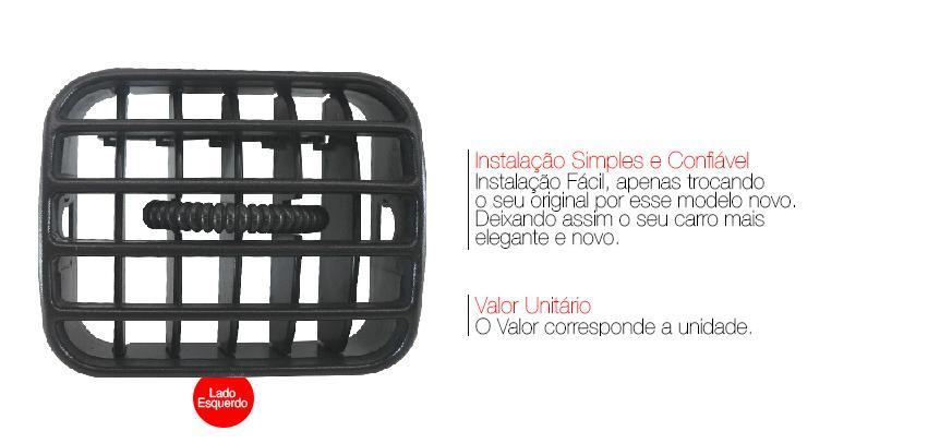 Difusor Ar Central S10 Blazer 2001 A 2011 Grafite Esquerdo AP881 - SONNIC SOUND