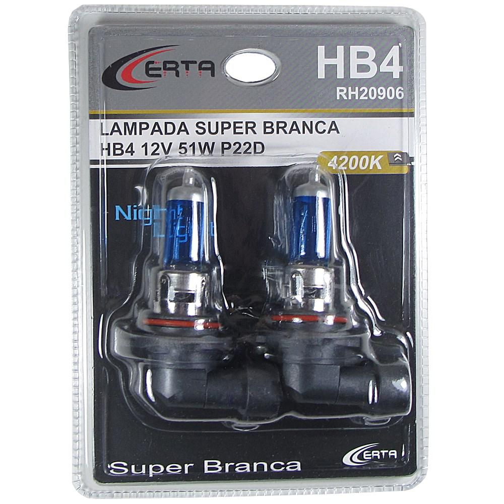 Par Lâmpada HB4 Super Branca Multilaser 5000k 55W Certificada Inmetro - SONNIC SOUND