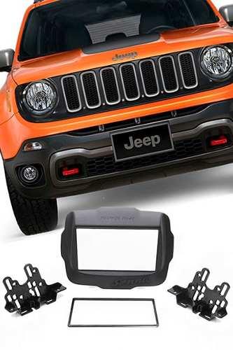 Moldura Painel Dvd 2 Din Multimidia Jeep Renegade AP874 +câmera Ré - SONNIC SOUND