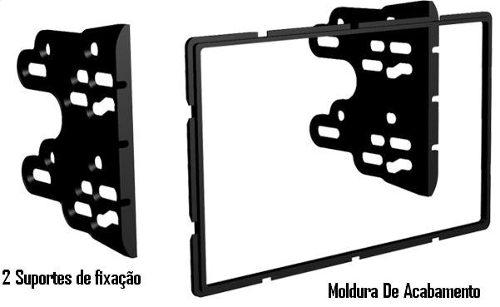Moldura De Painel Dvd 2 Din Sandero 07/11 Prata AP661 - SONNIC SOUND