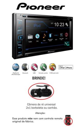 Dvd Automotivo Pioneer Avh-208bt 2din Corolla 09/14 +câmera Ré - SONNIC SOUND