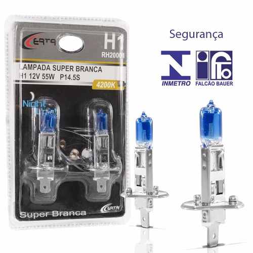 Par Lampada Super Branca H1 5000k Multilaser 55w C/ Inmetro - SONNIC SOUND