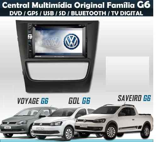 Central Multimídia Vw Gol Voyage Saveiro G6 Black Piano - SONNIC SOUND