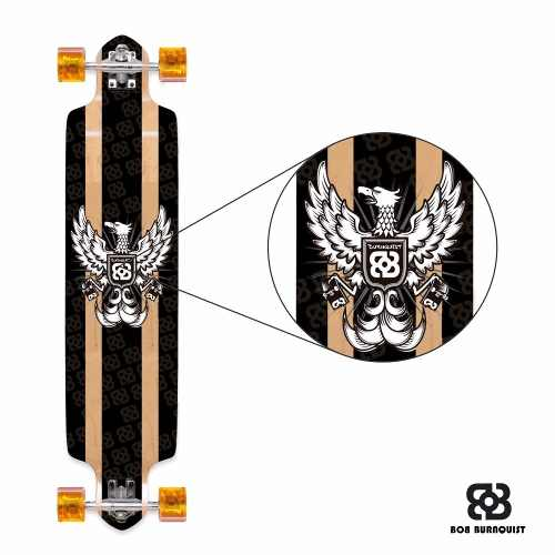 Skate Long Board Bob Burnquist Es 058 Abec 7 Original - SONNIC SOUND
