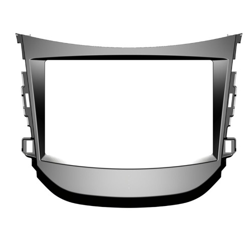Moldura Painel Hyundai Hb20  Dvd 2 Din Cinza Para Multimidia AP665 - SONNIC SOUND